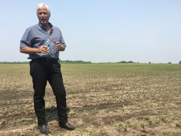 Rick Kimberley gestisce una fattoria in Iowa