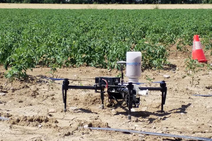 Il drone di Aermatica3D adattato al lancio di insetti utili