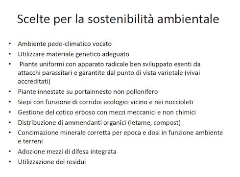 Scelte per la sostenibilità ambientale