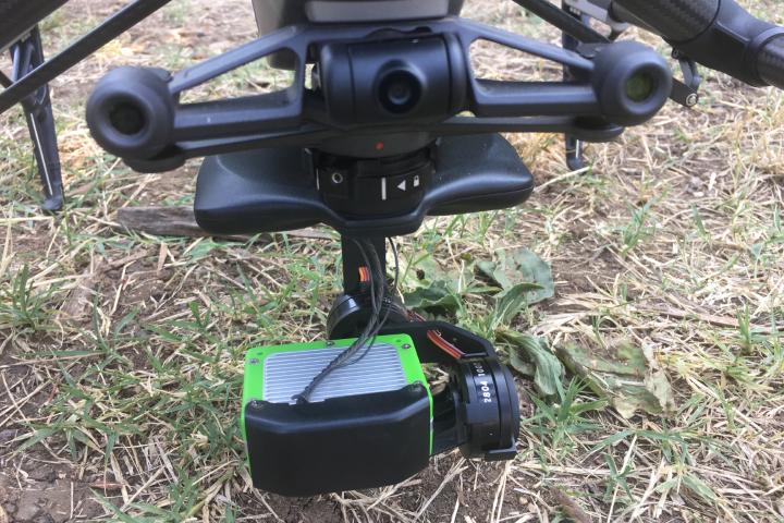 Il sensore montato sul drone di Terrasharp