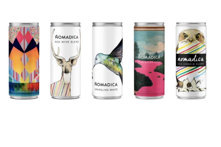 Le lattine di vino di design di Nomadica
