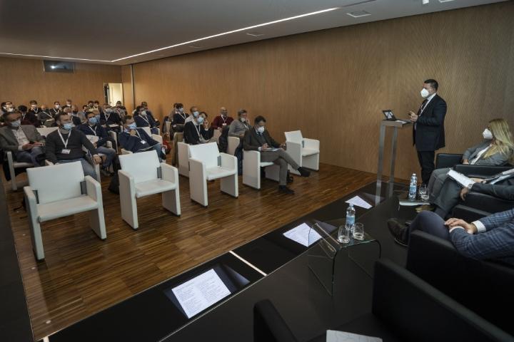 Sul palco Davide Ferrari, presidente di Sagea Group