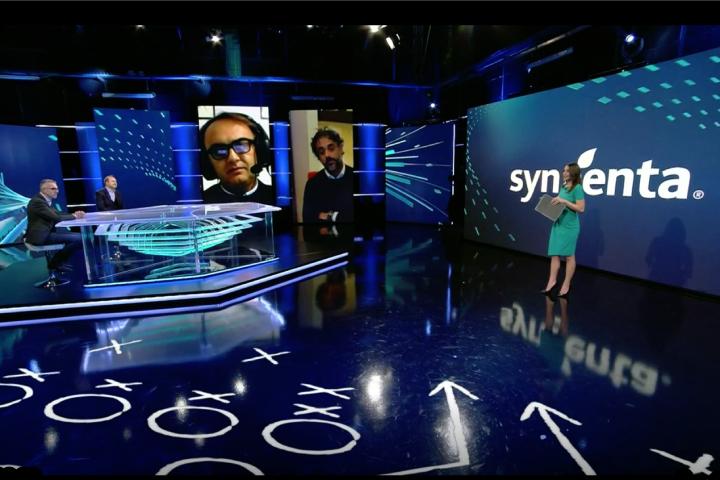 Un momento della presentazione di Orondis dagli studi di Sky