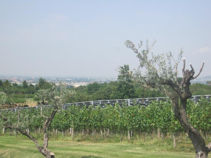 L'impianto fotovoltaico di Villa Crespia, in Franciacorta