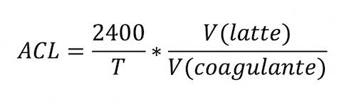 La formula per il calcolo dell'ACL