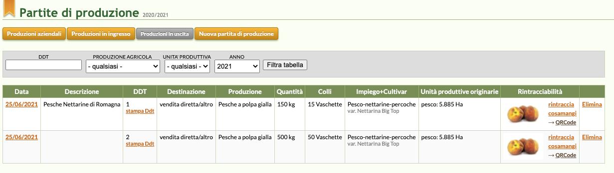 Con QdC® puoi registrare una raccolta e generare QrCode che identificano le tue partite di produzione