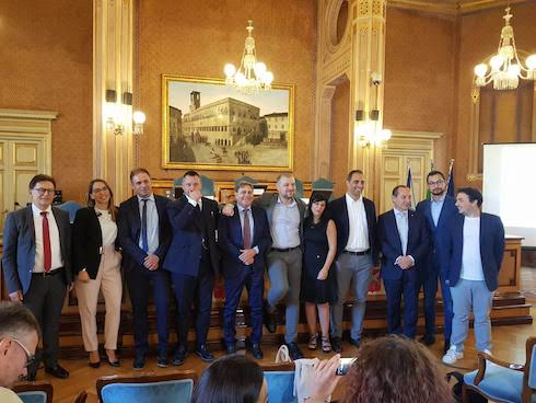 Il gruppo dei relatori all'evento Team digitale per l'agrifood di Perugia 2019
