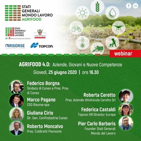 Webinar Agrifood 4.0: aziende, giovani e nuove competenze - Save the date