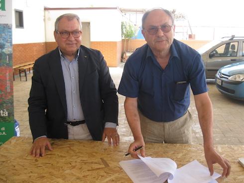 Firma accordo Lenticchia di Altamura Igp e Isea