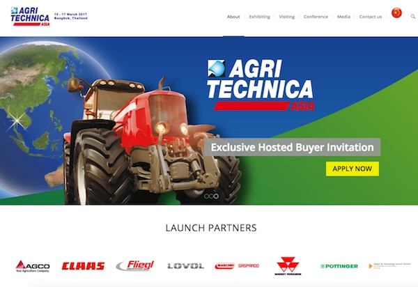 Launch partners Agritechnica Asia