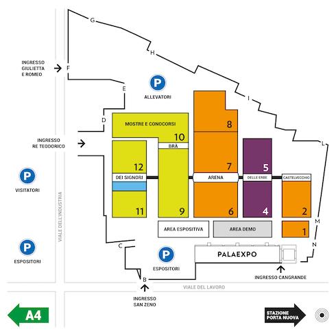 Mappa di Fieragricola 2020