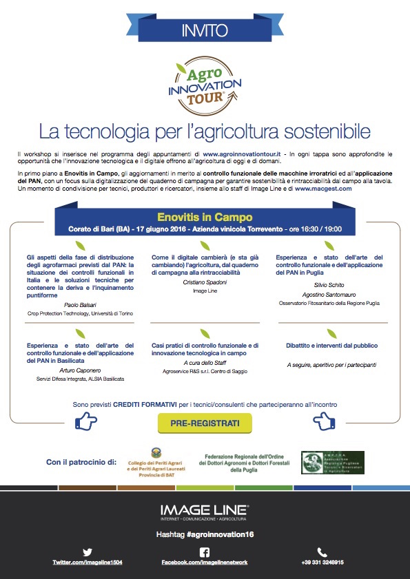 AgroInnovation Tour - tappa a Enovitis in campo