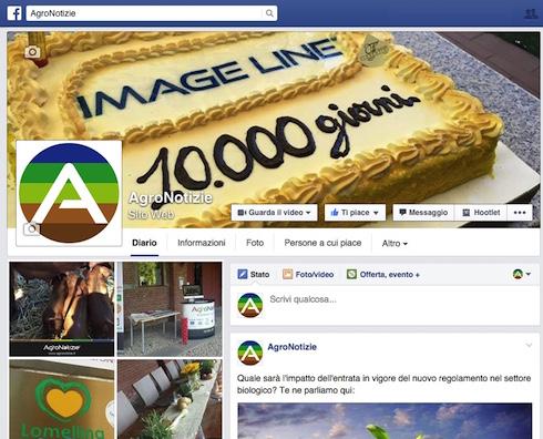 Pagina Facebook di AgroNotizie - 10000 giorni di Image Line