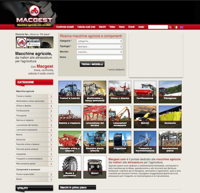 Macchine agricole e web - macgest.com