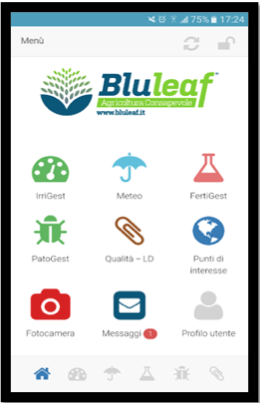 Schermata di Bluleaf