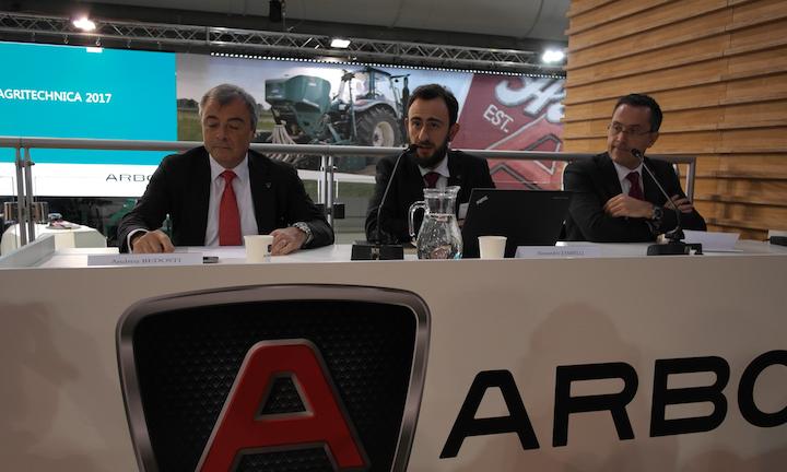 Conferenza stampa ARBOS Agritechnica 2017_da sinistra_ Andrea Bedosti_Alessandro Zambelli_ Massimo Zubelli