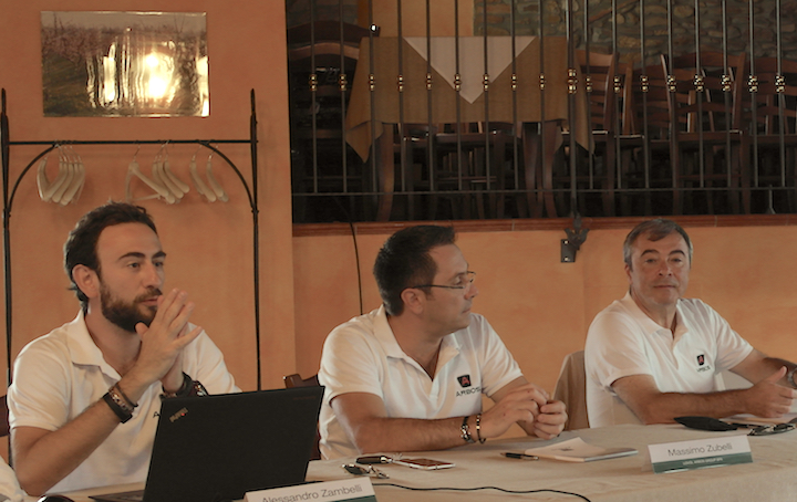Da sinistra Alessandro Zambelli, Massimo Zubelli e l'AD Andrea Bedosti