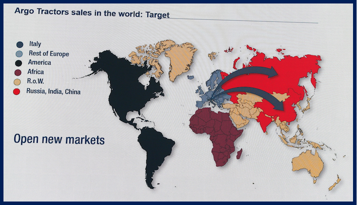 Argo Tractors guarda ai mercati di Russia, India e Cina