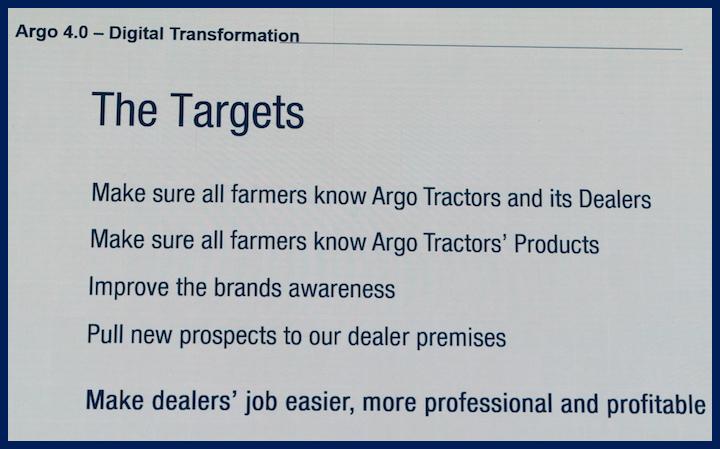 Target delprogetto di digitalizzazione Argo 4.0