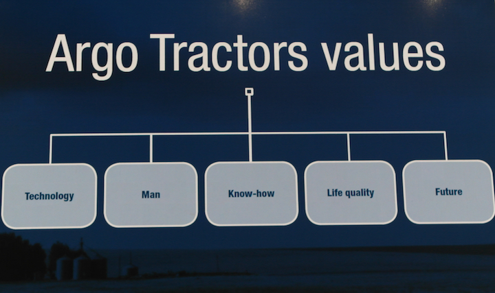 Valori fondamentali per Argo Tractors