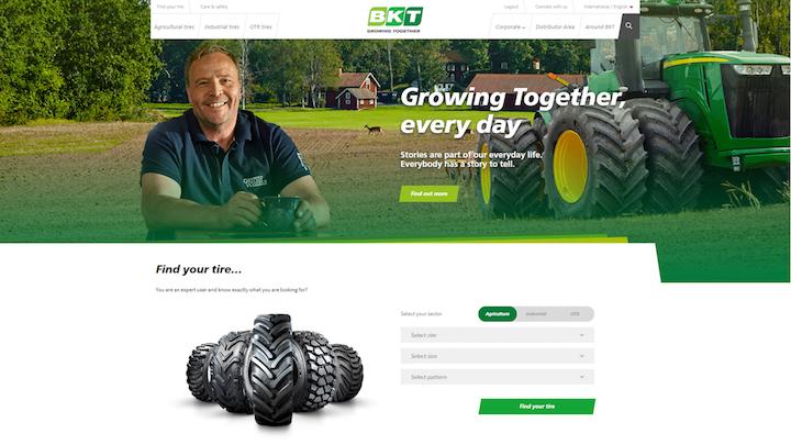 Home page del sito di Bkt