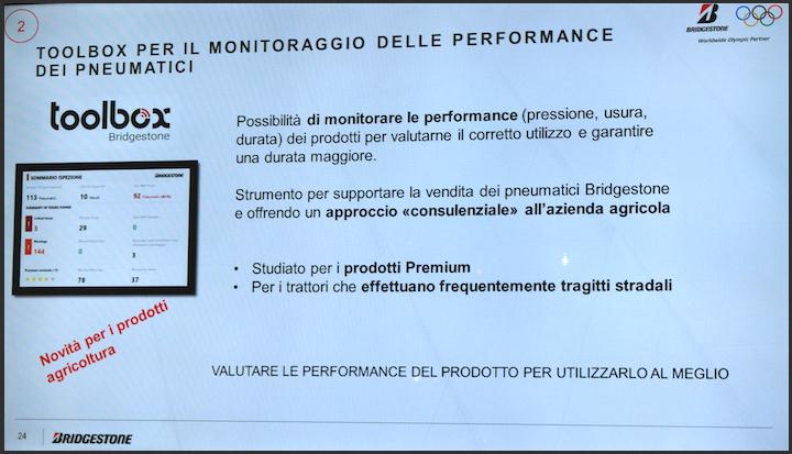 Toolbox di Bridgestone per il monitoraggio delle performance dei prodotti agricoli