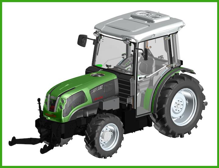 Trattrice Carraro Agricube Hybrid tra le Novità Tecniche 2018