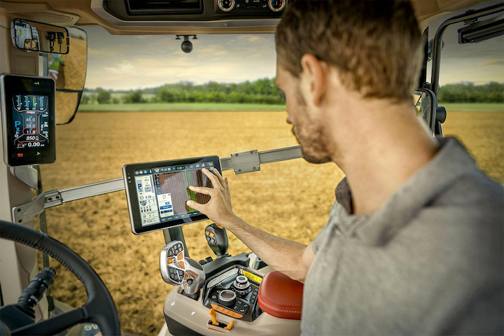 Nuovo monitor touchAFS Pro 1200 su Case IH Optum AFS Connect