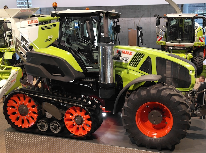 Inedito Claas Axion 900 Terra Trac ad Agritechnica