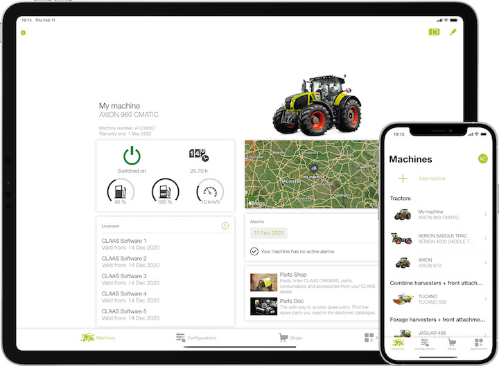 Flotta sempre sotto controllo con Claas Connect