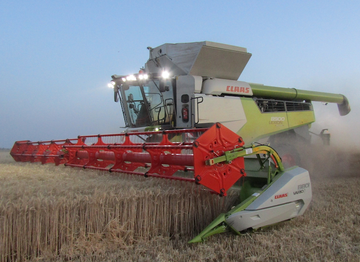Claas Lexion 8000, premiata al Machine of the year 2020