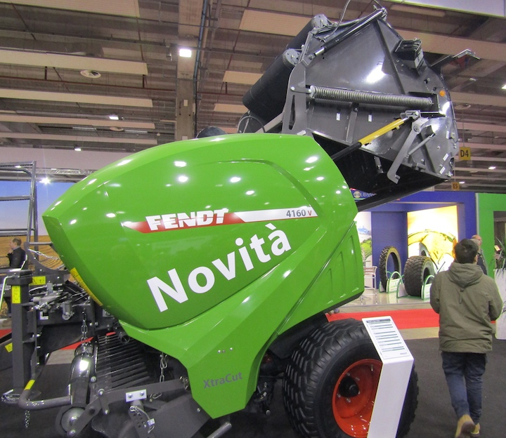 Rotopressa a camera variabile Fendt 4160 V Xtra a Fieragricola 2018