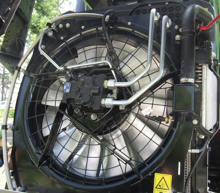 Ventola del Concentric Air System CAS sul Fendt 938 Vario MT