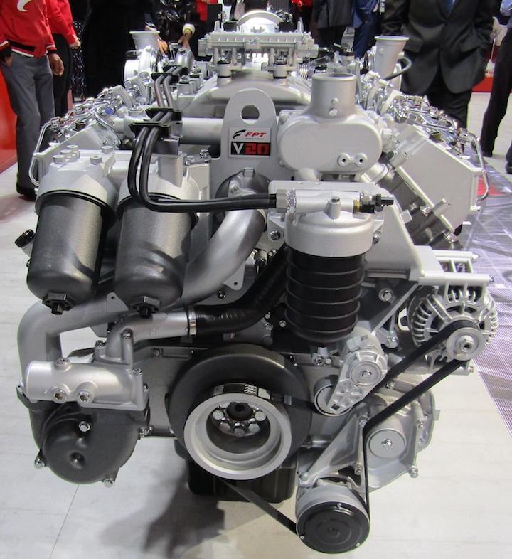 Motore FPT Industrial V20 da 8 cilindri e 20 litri di cilindrata