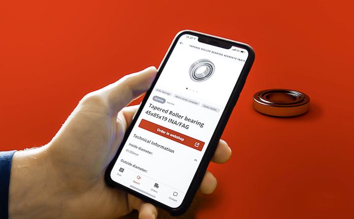 Riconoscimento dei prodotti con l'app Kramp