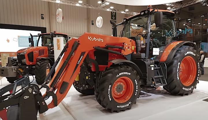 Kubota M6002 con caricatore al Fima 2020