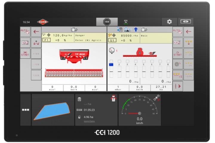 Il terminale Isobus CCI 1200 consente un controllo totale delle KUHN Maxima 3 da cabina