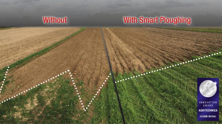 Campi arati con e senza il sistema Smart Ploughing