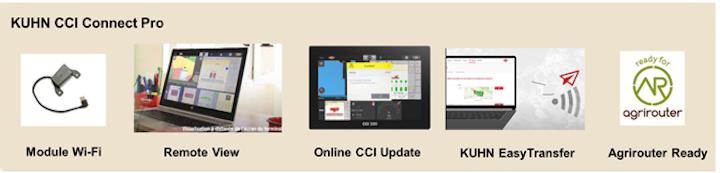 KUHN CCI Connect Pro include quattro funzioni