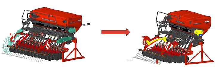 Differenze tra una KUHN Sitera standard ed una elettrica