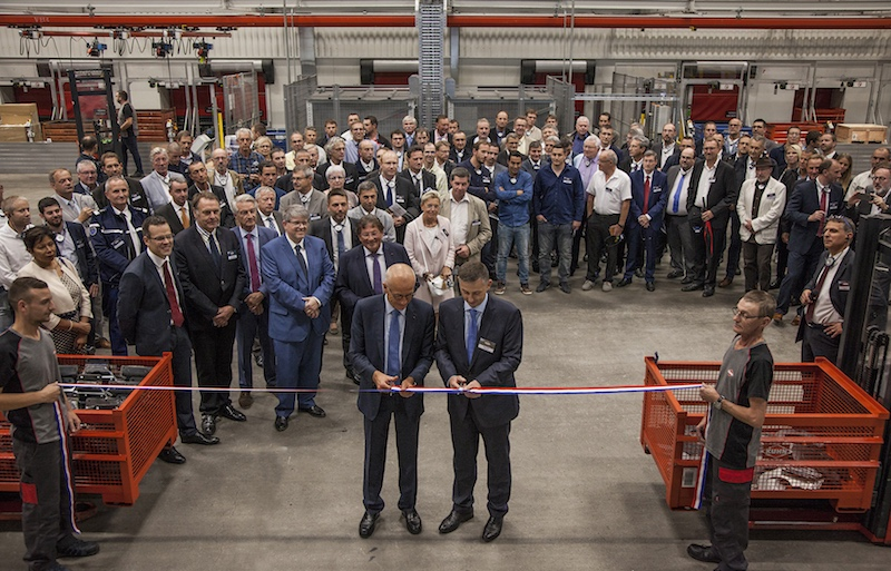 Taglio del nastro inaugurazione Centro logistico KUHN Saverne