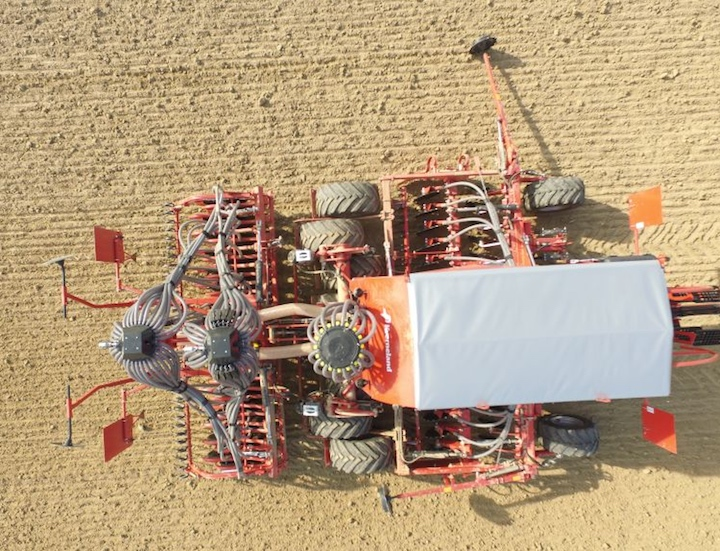 Kverneland u-drill plus, equipaggiate con il distributore elettrico Eldos