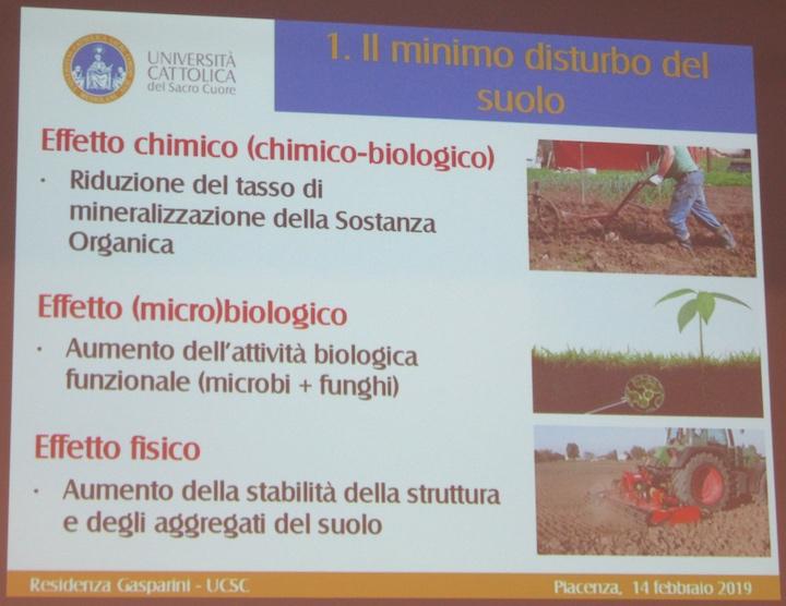 Effetti della riduzione del disturbo del suolo tramite tecniche conservative