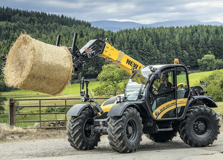 New Holland TH 7.37 Elite al lavoro