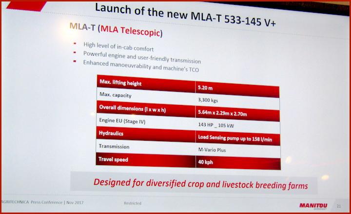 Scheda tecnica del modello MLA-T 533-145 V+