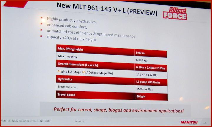 Scheda tecnica riassuntiva dell'MLT 961-145 V+L