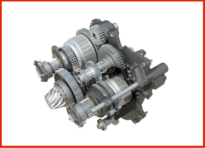Cuore della trasmissione Massey Ferguson Dyna E-Power
