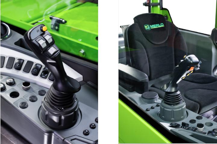 Joystick capacitivo autoaccelerante sui nuovi Merlo Turbofarmer