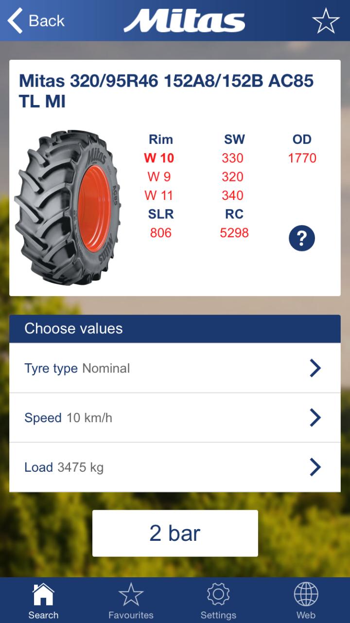 L'app di Mitas dedicata ai pneumatici