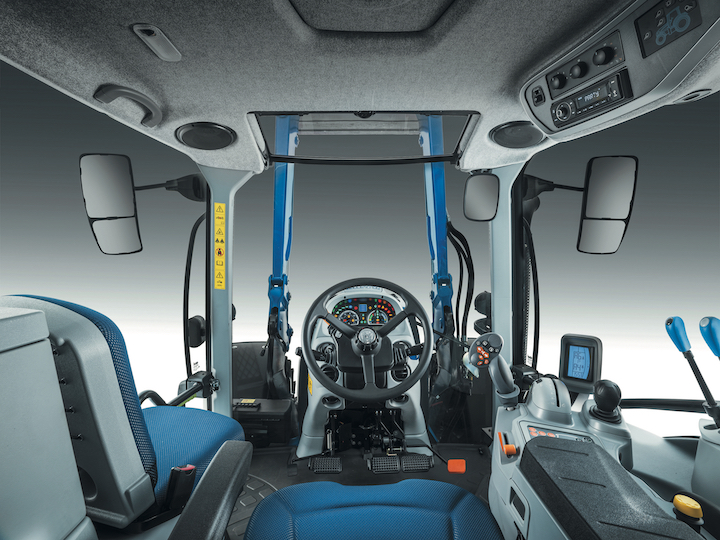 Cabina Horizon™ del New Holland T5.140 Dynamic Command™